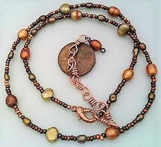Copper Freshwater Pearl Necklace - $27.22