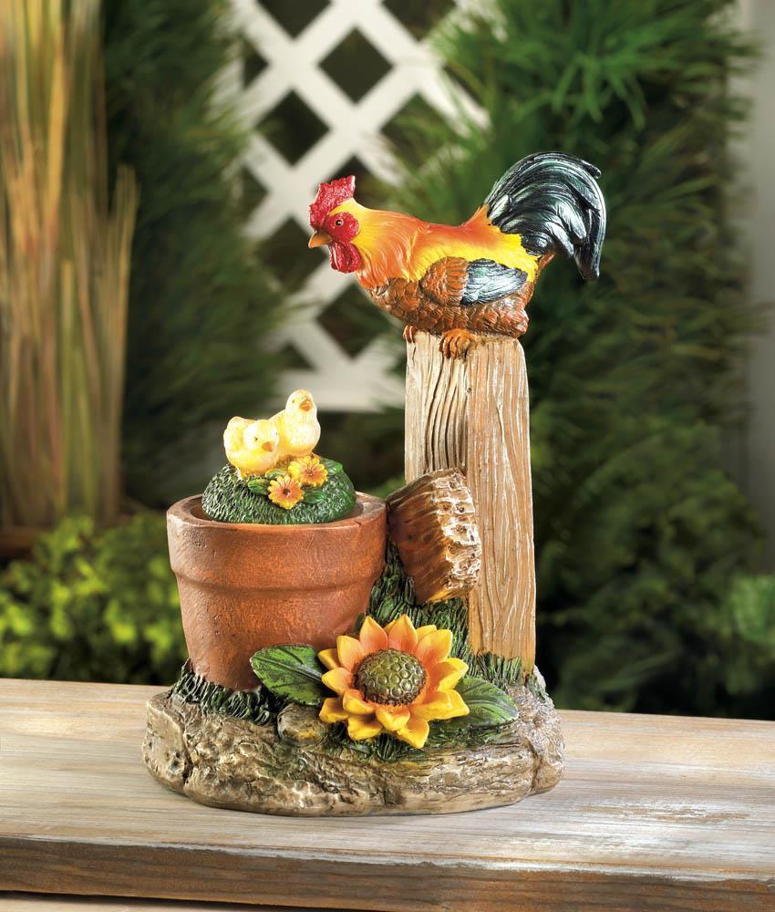 Solar rotating rooster garden decor and 50 similar items for Solar garden ornaments outdoor decor