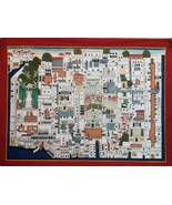 Map painting pichwai art original hand painted traditional shrinathji pa... - $627.63