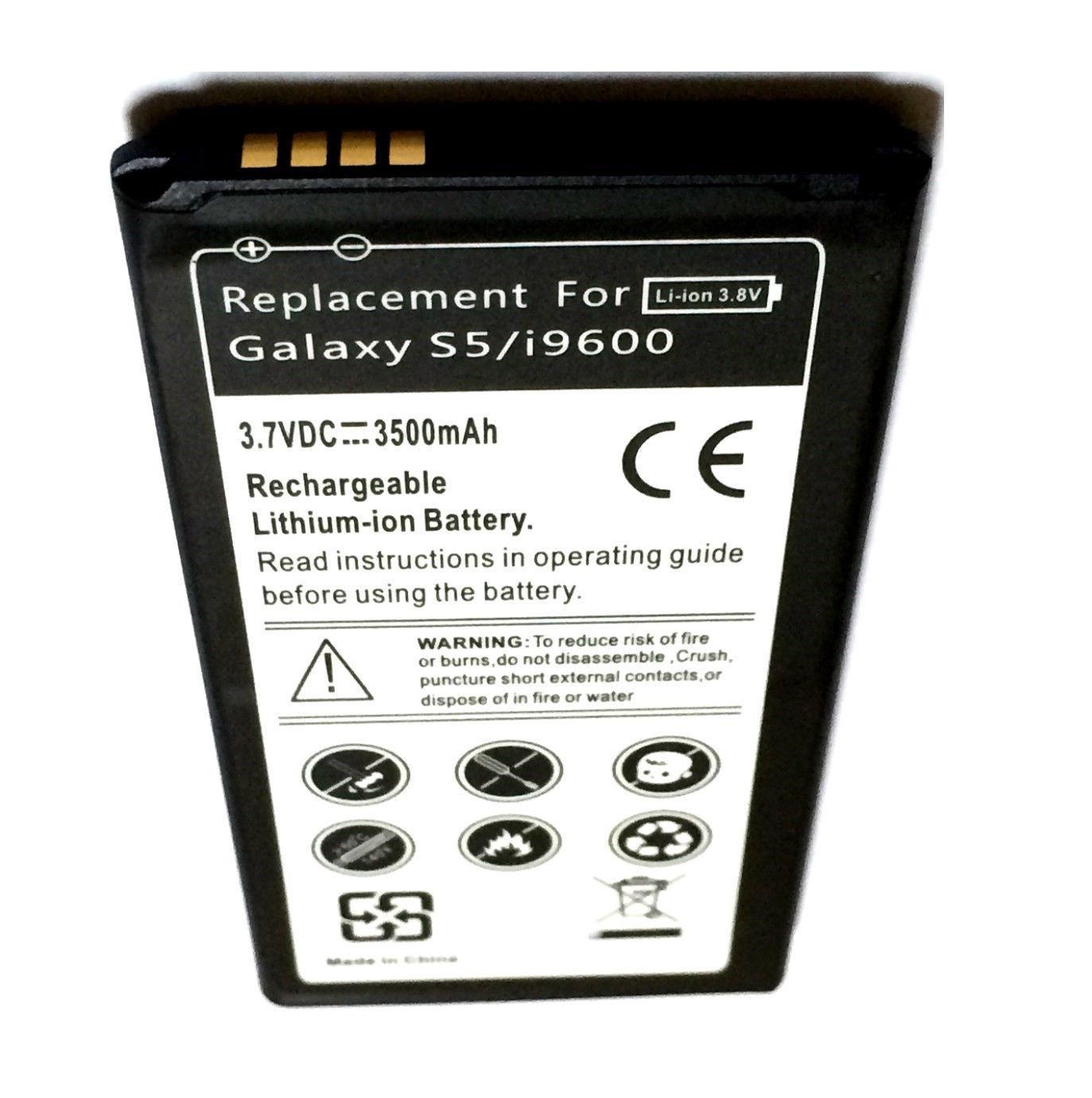 Samsung Galaxy S5 Slim Extended Battery G9009D G900D G900F G900H G900I G900J USA