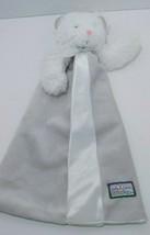 Blankets & Beyond white bear gray split open front baby security blanket... - $13.36