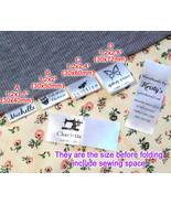 Custom logo clothes name label sew in folding hanging tag garment Person... - $13.85+
