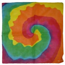 "22""x22"" Rainbow Multi-color Swirl 100% Cotton Bandana - $6.88"