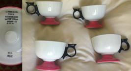 4 ALEXANDER GIRARD La Fonda del Sol Mugs Cup Tea Coffee Set Pink Pedesta... - $924.84