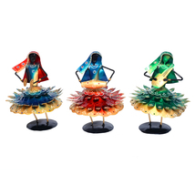 Dancing Lady Statue Set of Three pcs, Iron Made Hand Crafted Dancing Lady - $158.99