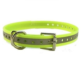 "Sparky PetCo 1"" Roller Buckle High Flex Reflective Yellow Waterproof Dog... - $11.47"
