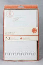 Martha Stewart Eyelet Cards 40 Printable Cards w/ Etiquette Guide - $19.79