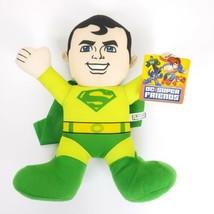 "Toy Factory Green Superman Plush DC Comics Soft Toy Doll Super Friends 13"" - $13.94"