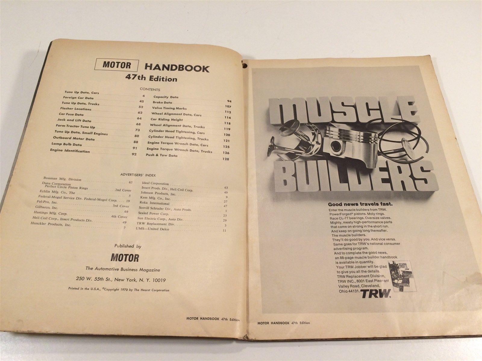 1970 Motor Handbook 47th Edition