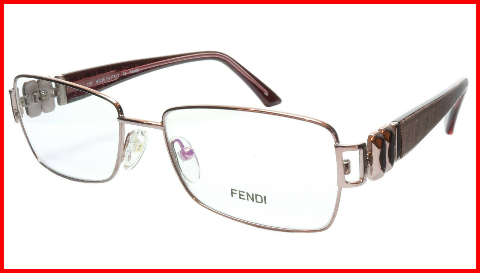 Primary image for FENDI Eyeglasses Frame F883 (663) Metal Light Violet Italy Made 53-16-130, 33