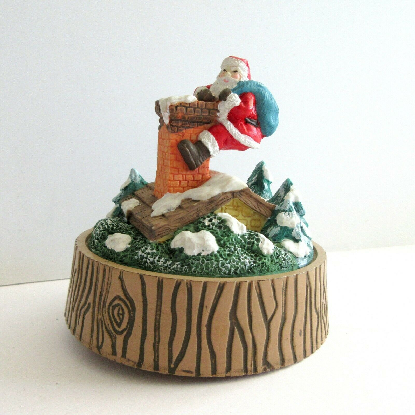 Primary image for Working Music Box Santa Claus is Coming To Town BROKEN on bottom Christmas