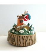 Working Music Box Santa Claus is Coming To Town BROKEN on bottom Christmas - $7.65