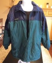 Women's Columbia Size Large Reversible Blue Green Jacket Coat NICE - $34.99