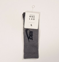 Nike Lab NSW Essential Crew Socks Gray Black  SX6212 Small Youth 3-5Y Womens 4-6 - $17.09