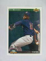 Pat Mahomes Minnesota Twins 1992 Upper Deck Baseball Card 776 - $0.98