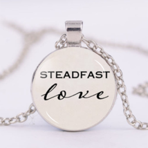 """STEADFAST LOVE"" CABOCHON NECKLACE  (12727)   >> COMBINED SHIPPING - $3.00"