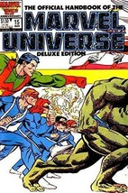 The Official Handbook of the Marvel Universe Deluxe Edition #15 1987 Marvel Comi - $7.83