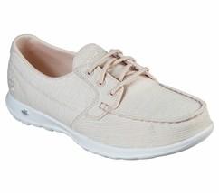 Skechers Light Pink shoes Women Slip On Comfort Casual Go Walk Boat Canv... - $29.99