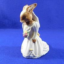 Royal Doulton Bride Bunnykins DB101 Figurine Collectible Cake Topper - $21.50