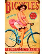 Bicycles Pin-Up  Metal Sign - $29.95