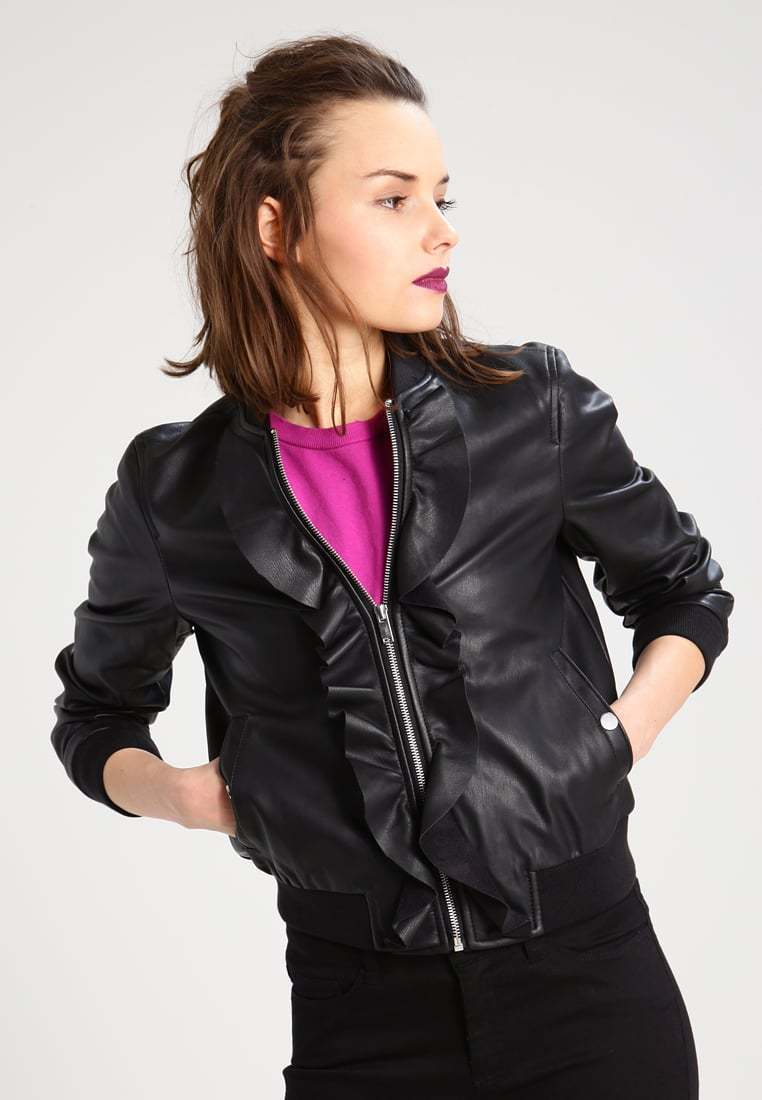 New Classic Slim Fit Stylish Soft Lambskin Leather Jacket for Women -84