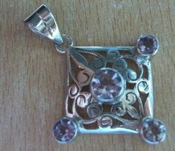 925 Sterling Silver Purple Amethyst Pendant 56 Mm (Hallmarked In The Uk) - $69.29
