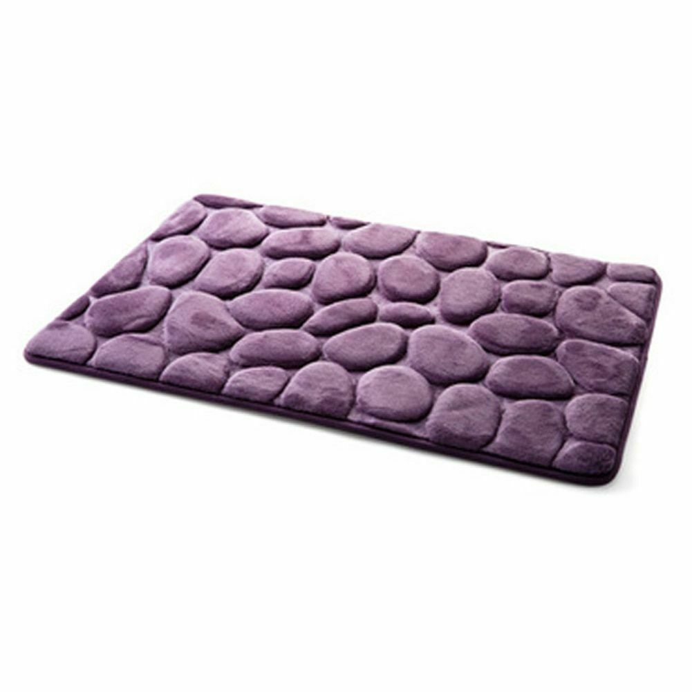 Pebble Flannel Non Slip Rug Foam Pad Mat Floor 40*60cm Carpet Home Garden Decor image 4