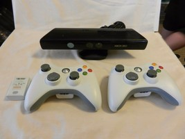 Microsoft XBox 360 Kinect #1414 with 2 wireless controllers, 1 Battery  - $123.75