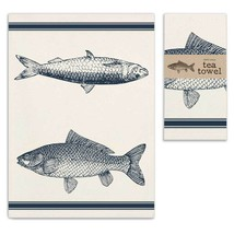 Fish Cotton Tea Towel Kitchen Towel Dish Towel - $12.38