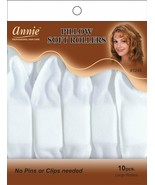 "Annie Pillow Soft Rollers Hair Wave Curlers Sleep White 1 1/2""D 10CT Lar... - $6.88"
