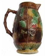 MAJOLICA Victorian Water jug Marked RW - $121.03