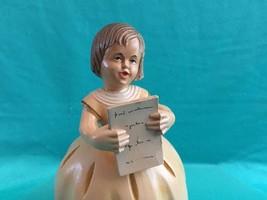 Anri Music Box Reuge Feelings  Vtg Wooden Girl Reading Tori Art - $65.00
