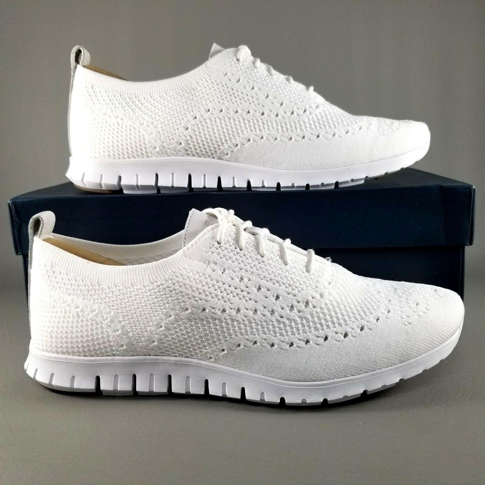 Cole Haan ZeroGrand Stitchlite Wingtip Oxfords SZ 9.5 B Womens Dress Shoes White