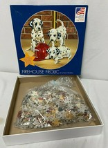 Great American Puzzle Factory Firehouse Frolic Dalmations 500+ Round Jigsaw - $15.43