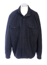 BANANA REPUBLIC Black Charcoal Wool Heavy Felt Zip Up Field Jacket Mens ... - $29.69