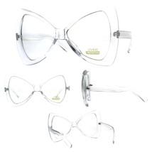 Womens Clear Lens Oversize Bat Shape Butterfly Diva Eyeglasses - $9.85
