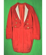 English 'Hunting Pink' Tail Coat c.1930s w/ (12) Hunt Club Fox Head Pitt... - $950.00