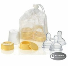 MEDELA Breastmilk Bottle Spare Parts with 3 Medium wide base Nipples NEW! - $13.85
