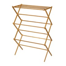 Household Essentials 6524 Tall Indoor Folding Wooden Clothes Drying Rack... - £39.25 GBP