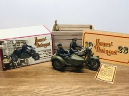 Vintage 1996 Harley Davidson Cast Iron Motorcycle with Sidecar 1928 Recp... - $47.50