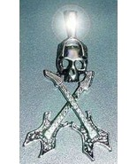 SALE Big Gothic Skeleton Guitar Charm Sterling Silver skull - $47.49