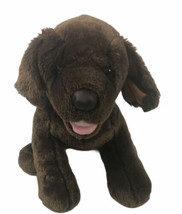 Build A Bear Brown Puppy Dog Standing Tongue Out Stuffed Plush BABW - $29.69