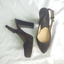 Michael Kors Brown Suede Chunky Heels 8 - $25.00