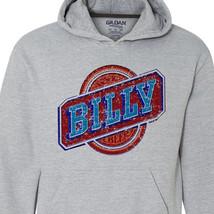 Billy Beer Hoodie retro vintage style distressed print grey graphic tee shirt image 2