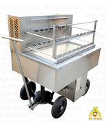BRAZILIAN CHARCOAL GRILL FOR BBQ 15 SKEWERS - PROFESSIONAL GRADE - FOR C... - $3,977.00
