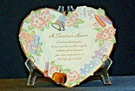 A Teacher's Heart Plate - Lessons from the Heart C B4508 Collection AA20-2079 Vi image 3