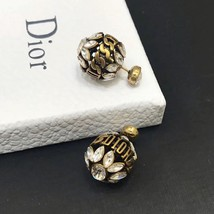 NEW AUTH Christian Dior 2019 DIO(R)EVOLUTION CRYSTAL TRIBALES EARRINGS AGED GOLD image 8