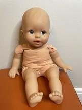 "14"" Baby Doll Mattel Fisher Price 2003 Cloth girl boy blue eyes Rare Vin... - $17.81"