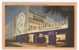 Earl Carroll Theater Hollywood California postcard - $3.96