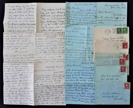 1912 lot antique 6 WATSON FAMILY LETTERS edmeston scranton carbondale pa - $48.95
